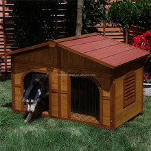 ZPDK1034 Luxury outdoor wooden dog kennel onsale waterproof with curtain