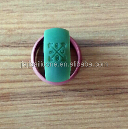 Silicone Wedding Band Finger Logo <strong>Ring</strong> for man