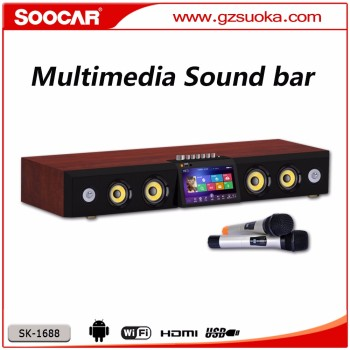 1366P Wooden Android 4.4.2 Sound Bar for Entertainment, Supporting Cloud Music and Hard Disk