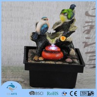 Handmade bird design indoor mini tabletop decorative water fountains