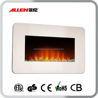 White Led Electric Fireplace Wall Mounted