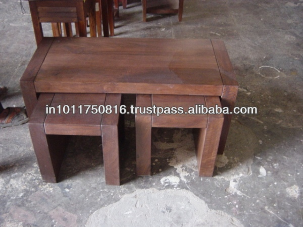 WOODEN TABLE set of 3