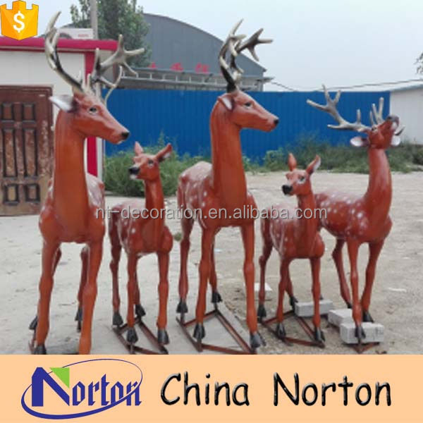 modern craft resin deers family statues garden decoration NTRS-CS065Y