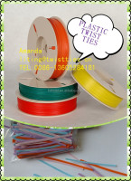 PLASTIC/ PE twist ties for packing frozen bags 3728
