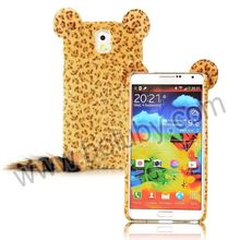 Leopard Cat Design Furry Fur TPU Case for Samsung Galaxy Note 3 N9000 N9002 N9005