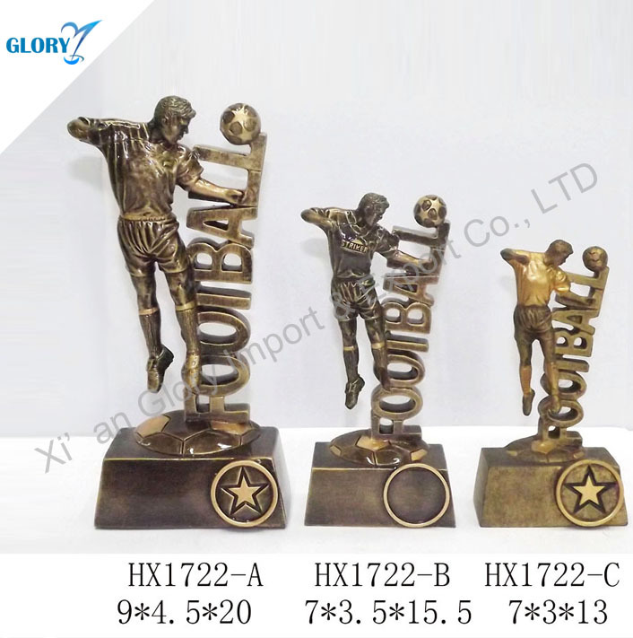 Bobble Head Ball Football Statue Trophy Resin Award