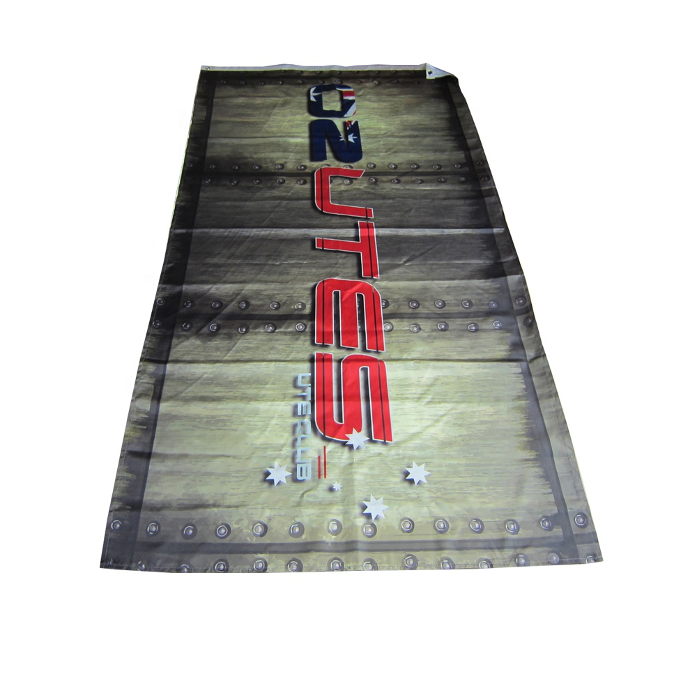 custom sublimation sports flag outdoor banner