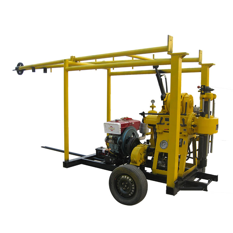 Two wheel trailer mounted drilling rig water well drilling machine