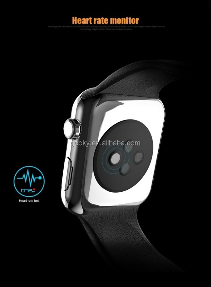 Touch screen heart rate smart watch a9 android smart phone mobile for iphone and ios from alibaba wholesales