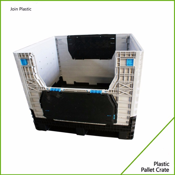 1200*1000mm Medium Bulk Folding Container Vented Food Grade Plastic Pallet Box Crate for sale