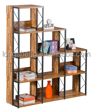 Living room 4 Layer modern wooden bookcase
