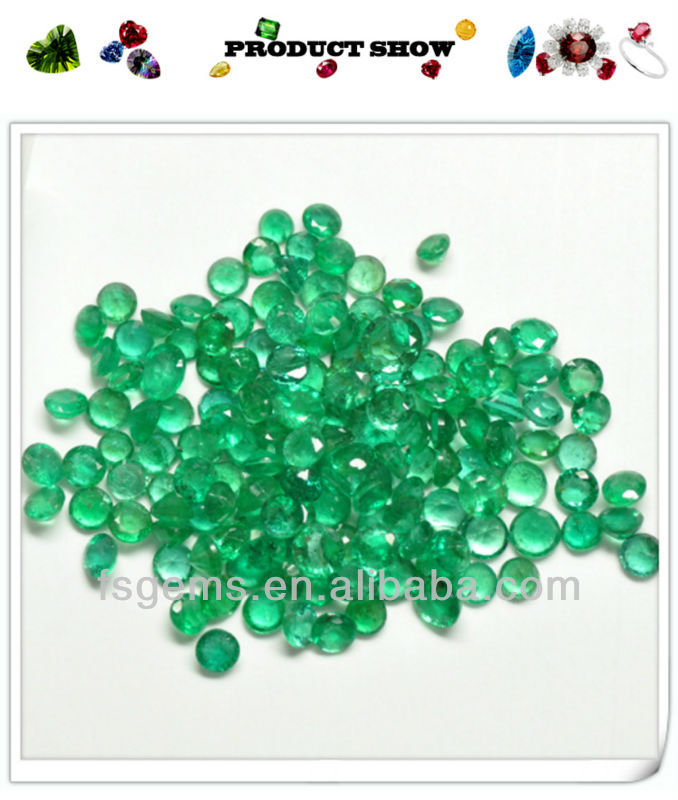 Precious Natural Emerald stoneRound 1.4mm with Competitive Emerald Stone  Price per carat for jewelry