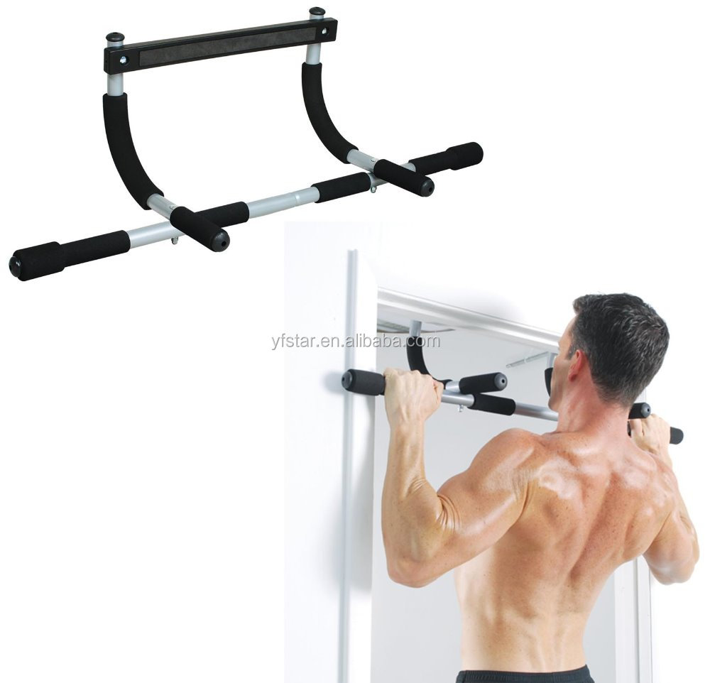 Door Home Gym Bar Exercise Workout Chin Up Pull Up Sit Fitness Iron Man