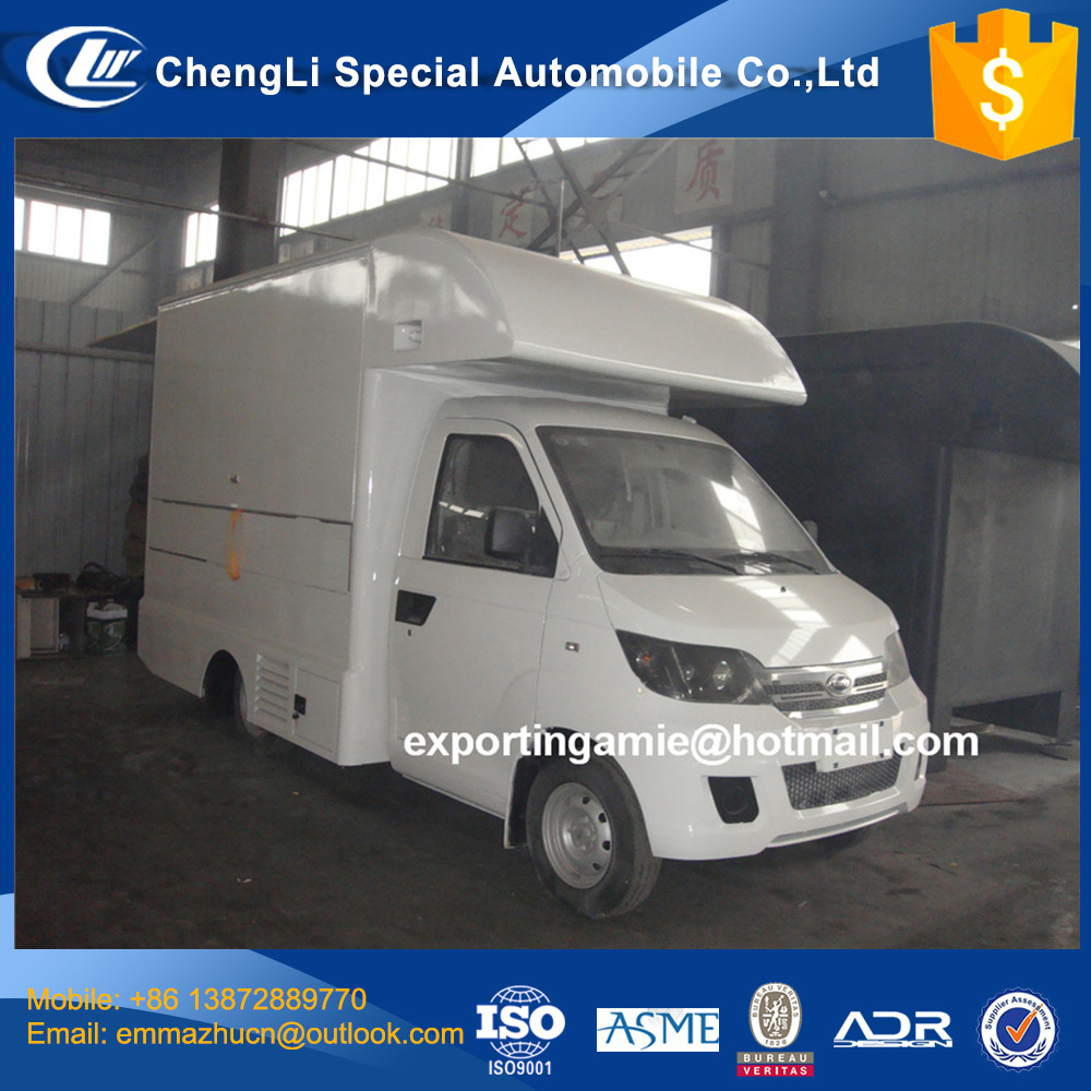 good quality cheapest price gasoline 4 wheeler mini food truck for fast food