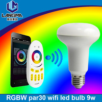 Langma China supplier Multi function wifi smart multicolour bulb 9w 6w all controlled by iPhone, iPad, iPod Touch, Android phone