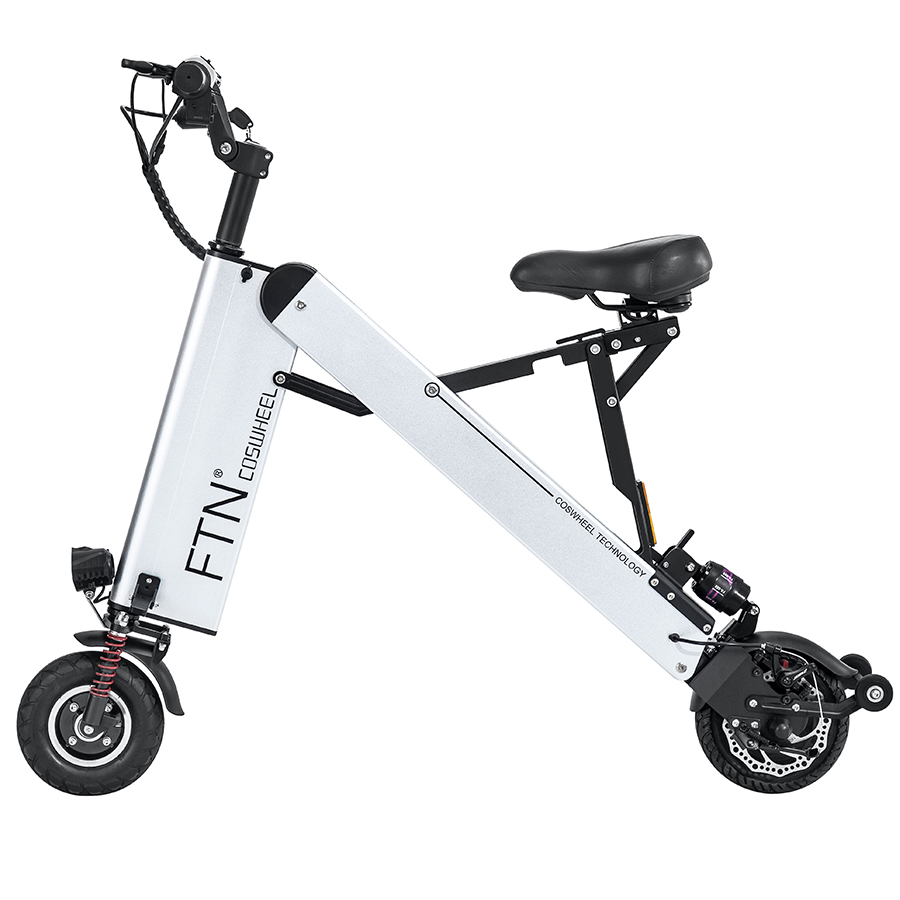 Coswheel Folding Scooter, 36V/350W, 10Ah 30-50km/h, 8inch 16KG Lightweight Foldable Adult <strong>Electric</strong>+Bicycle