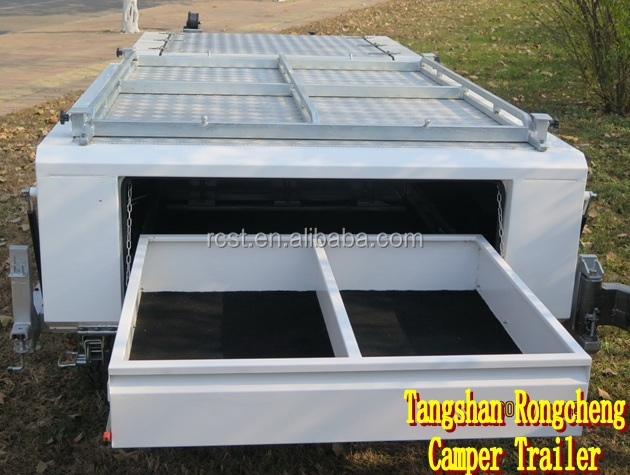 New rear folding camper trailer with double spare wheel