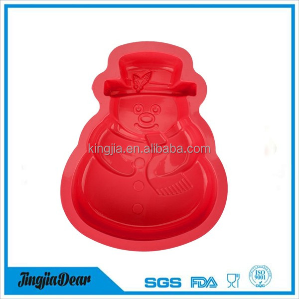 custom-made 3D snowman silicone cake/ice cream molds for kids