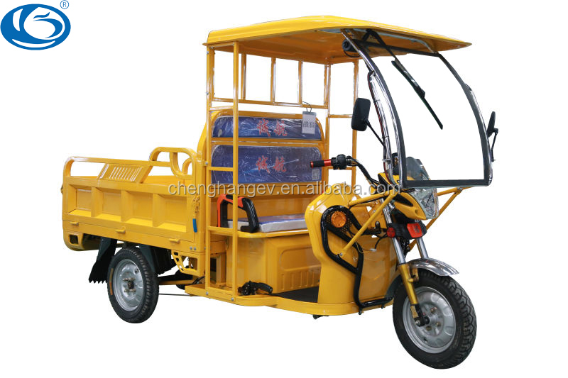 2016 high quality 1000w adult cargo three wheel motorcycle Battery Powered 48v Electric Bajaj In India