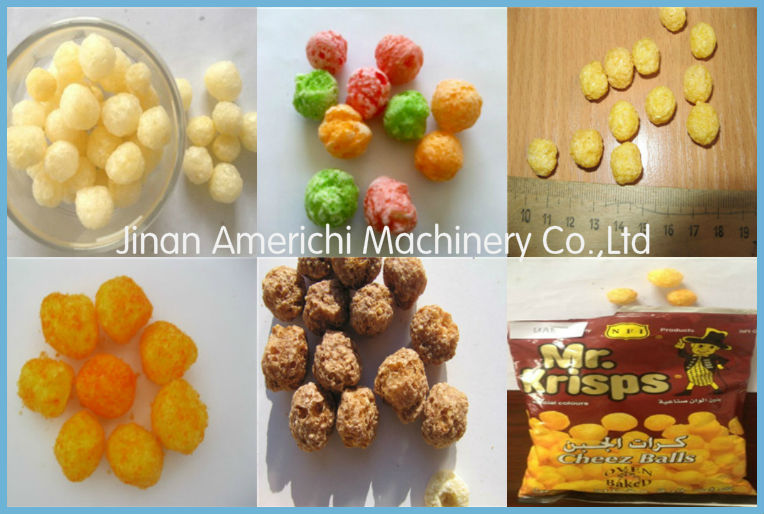 Coco puffs/pops breakfast cereals make machine