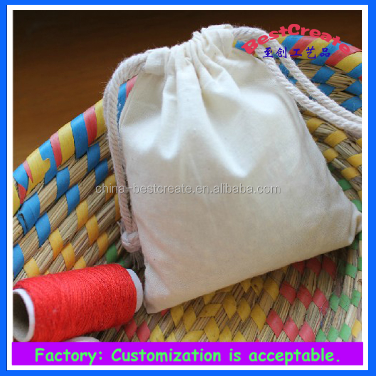 Custom color 12oz red Drawstring canvas cosmetic bags with red cotton string