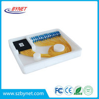 fiber optic PLC Splitter 1*64 ABS type FTTH Device