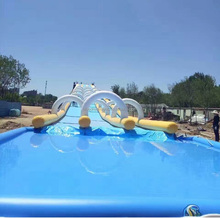 Commercial cheap giant 1000ft inflatable water slide for kids and adult