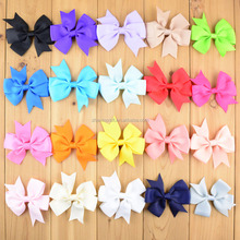 Hot Fashion Single Faced Ribbon Mini grosgrain ribbon Bows For Gift baby headband <strong>hair</strong> <strong>accessory</strong>