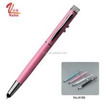 Multifunction stationery pen with light laser led flashlight touch stylus light