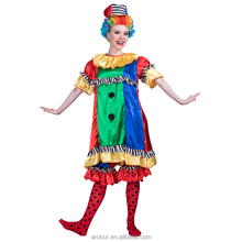 Funny Cosplay Halloween Carnival Adult Suit Professional Women Colourful Halloween Clown Costume