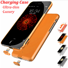 External 2000mAh battery charger case for iphone 6 plus backup power battery case