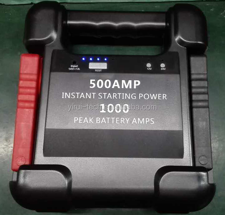 12V& 24VDual type 24000mAh mini portable power jump star ter for jumping start 12V and 24V engine with 1000Amp peak current