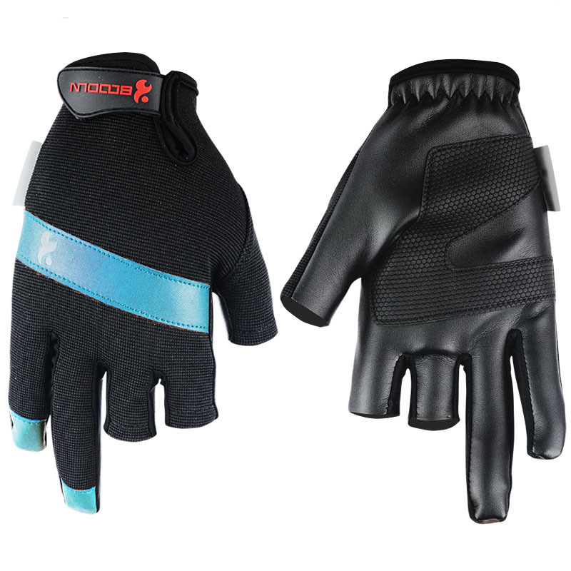 New Neoprene Fishing Gloves Sports Waterproof 2 Finger Fishing Gloves For Men Outdoor