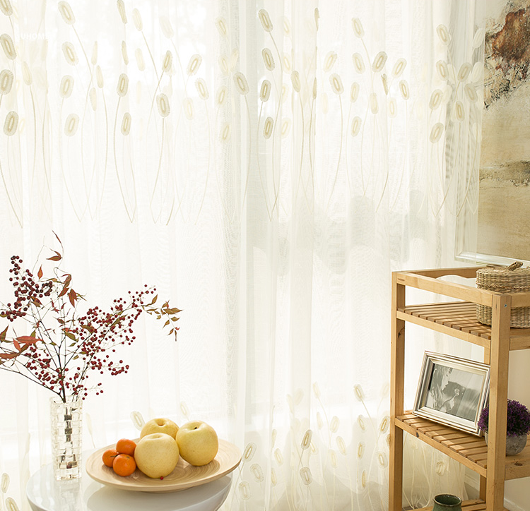 lace curtain solid origin pure color fancy voile curtain design 3D embroidery window sheer curtain fabric