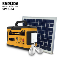 SARODA 80w solar portable generator with MP3 and FM radio 220v solar power home system