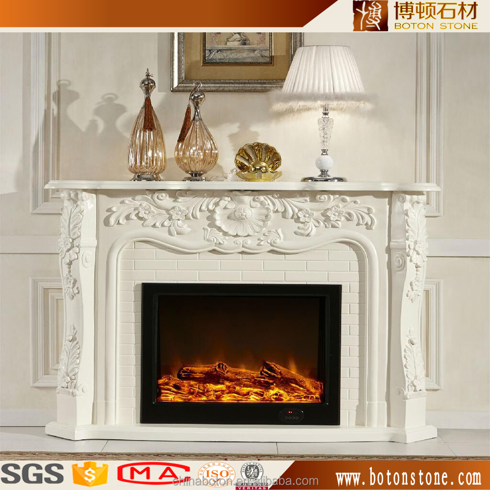 stone fire place white artificial marble fireplace surround