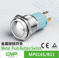 Mounting diameter 16mm CMP stainless steel waterproof ip67 pushbutton switch