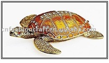 New Fashion Turtle trinket box metal craft