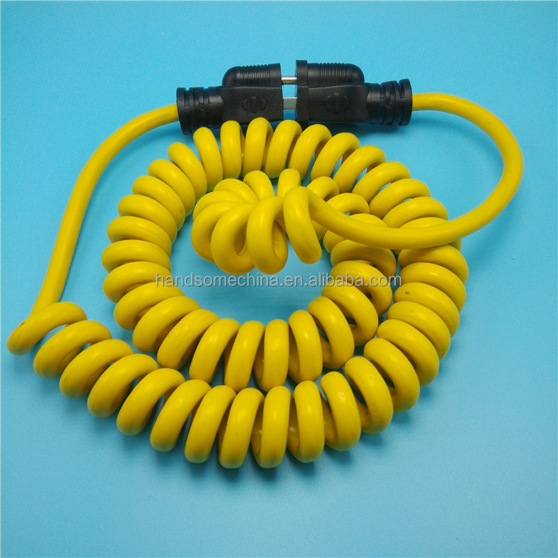 SJTW heavy duty Spring extension Cord Coiled Cable