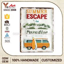 Promotions Oem Design Handmade Small Metal Sign Car Wall Plaque