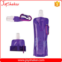 Wholesale Customize Logo Joyshaker Top Loop Foldable Water Bottle, BPA Free Collapsible Sport Bottle For Kids