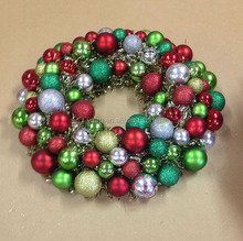"20""Christmas wreath in different sizes balls and bells"