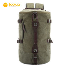 Factory price multifunctional outdoor camping canvas backpack, laptop backpack for students