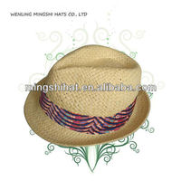 W8058 fedora hat straw hat for lady