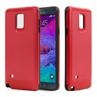 china low price red color tpu pc phone back cover for samsung galaxy note 4