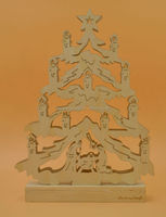 2015 new design carved wooden natural christmas decoration