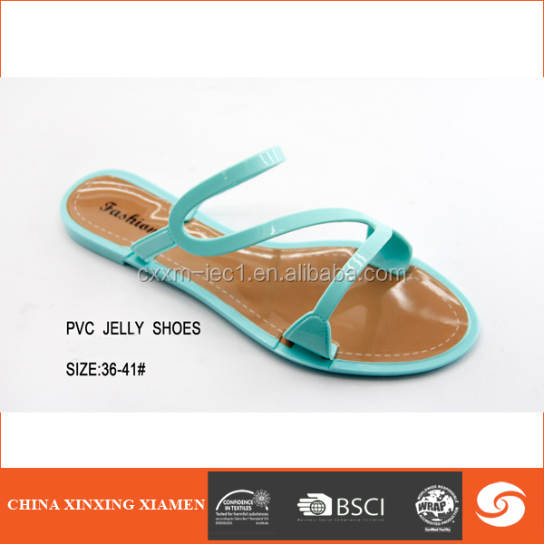 2015 wholesale new design pvc slipper