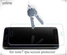 Low price mobile phone HD screen protector for samsung note7