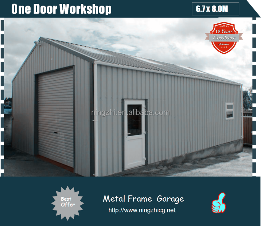 Galvanised Steel Frame Garage Gable Roof Sheds Buy Steel