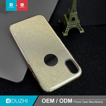 DUZHI newest design cheap factory price 3 in 1 Glitter shinning PC with TPU phone case cell phone case for iphoneX